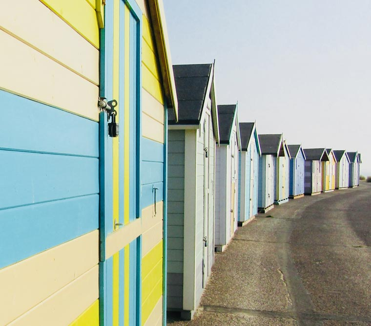 Lowestoft beachfront huts